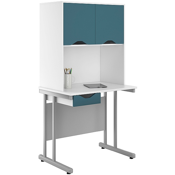 NEXT DAY Create Kaleidoscope Single Drawer Desks With Closed Storage