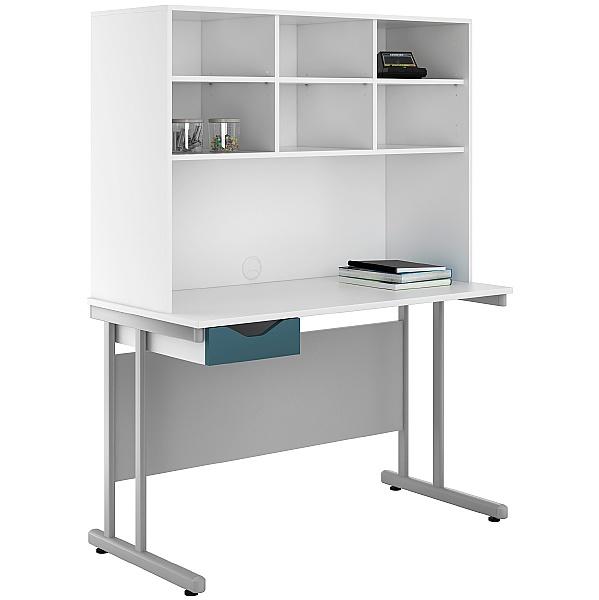 NEXT DAY Create Kaleidoscope Single Drawer Desks With Open Storage