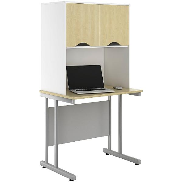 NEXT DAY Create Sylvan Desks With Closed Storage