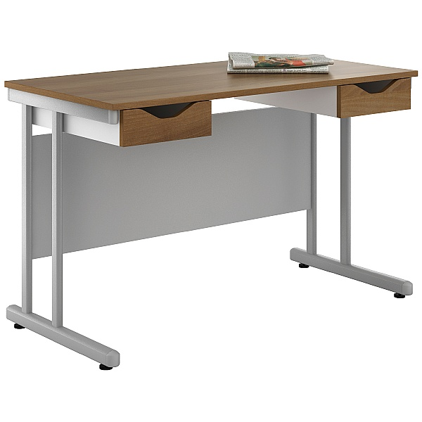 NEXT DAY Create Sylvan Double Drawer Desks