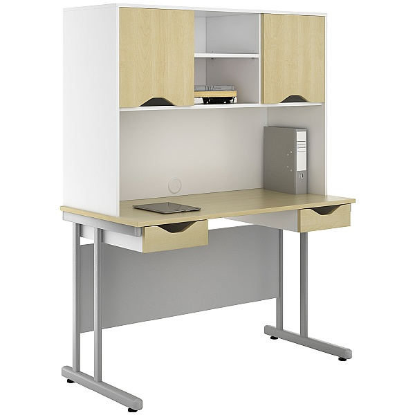 NEXT DAY Create Sylvan Double Drawer Desks With Closed Storage