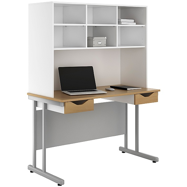 NEXT DAY Create Sylvan Double Drawer Desks With Open Storage
