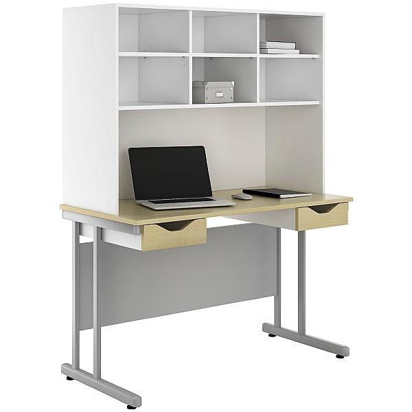 NEXT DAY Create Sylvan Double Drawer Desks With Open Storage