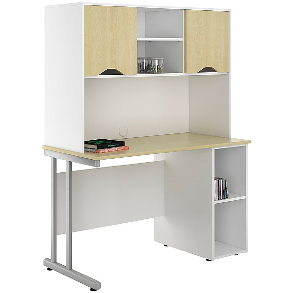 NEXT DAY Create Sylvan Open Pedestal Desks With Closed Storage