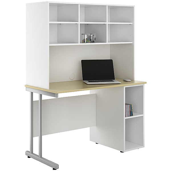 NEXT DAY Create Sylvan Open Pedestal Desks With Open Storage