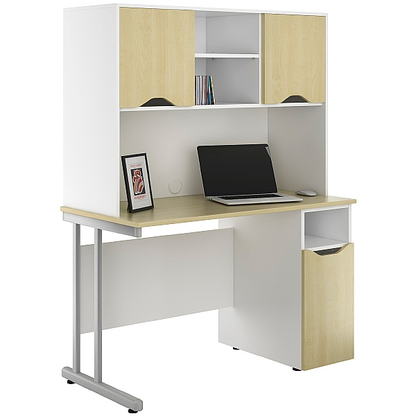 NEXT DAY Create Sylvan Pedestal Desks With Closed Storage