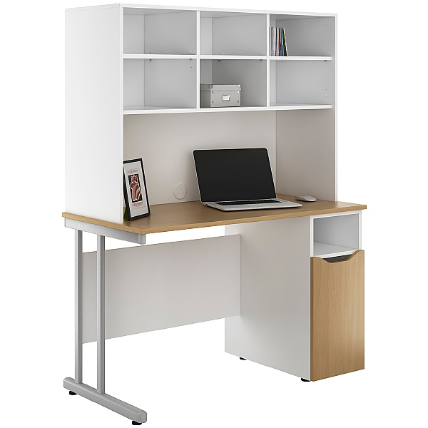 NEXT DAY Create Sylvan Pedestal Desks With Open Storage