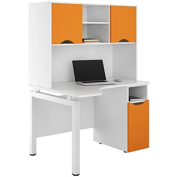 NEXT DAY Engage Kaleidoscope Corner Combination Desks