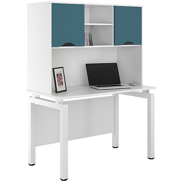 NEXT DAY Engage Kaleidoscope Desks With Closed Storage