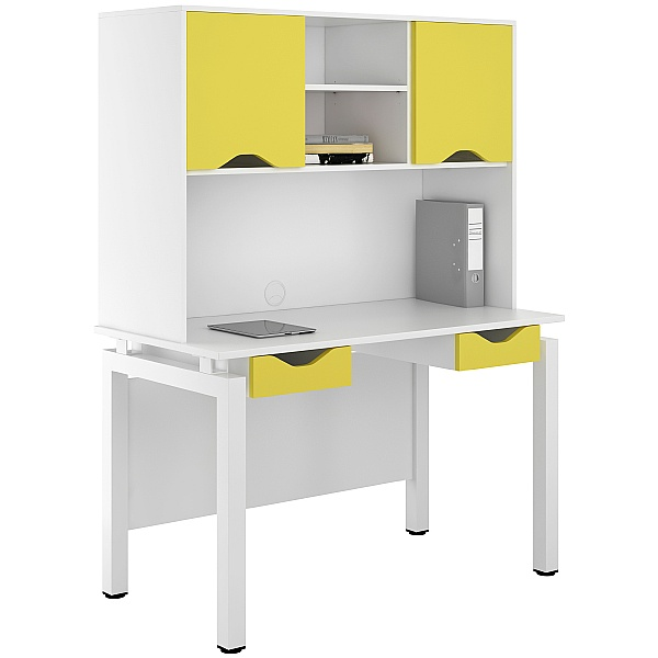 NEXT DAY Engage Kaleidoscope Double Drawer Desks With Closed Storage