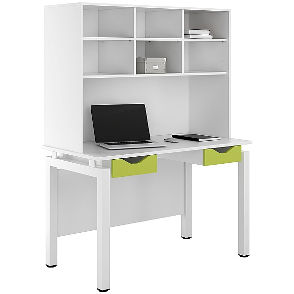NEXT DAY Engage Kaleidoscope Double Drawer Desks With Open Storage