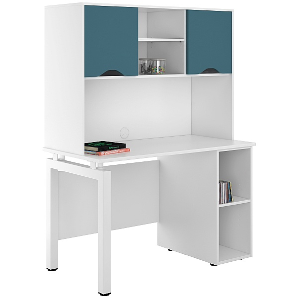 NEXT DAY Engage Kaleidoscope Open Pedestal Desks With Closed Storage