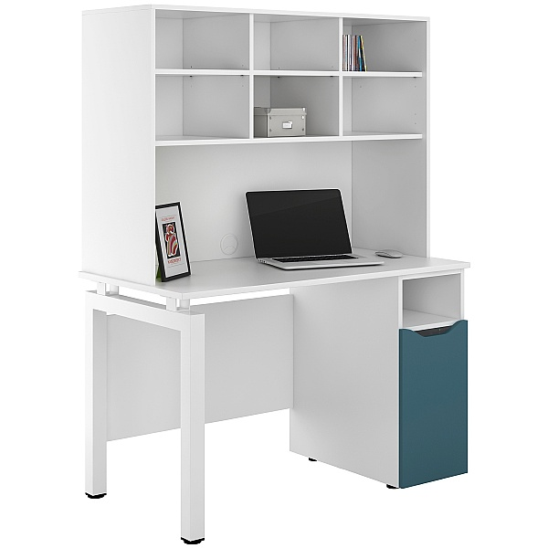 NEXT DAY Engage Kaleidoscope Pedestal Desks With Open Storage