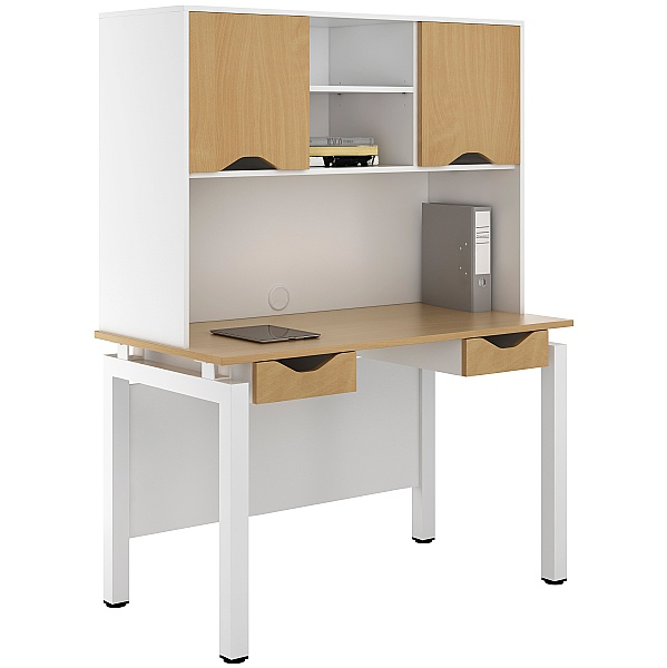 NEXT DAY Engage Sylvan Double Drawer Desks With Closed Storage