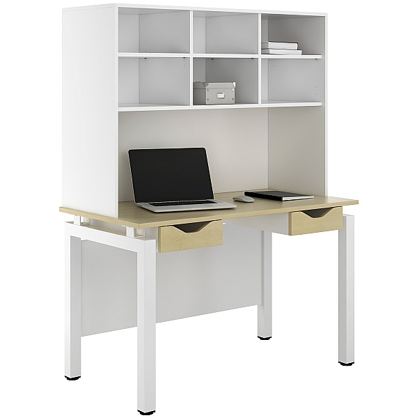NEXT DAY Engage Sylvan Double Drawer Desks With Open Storage