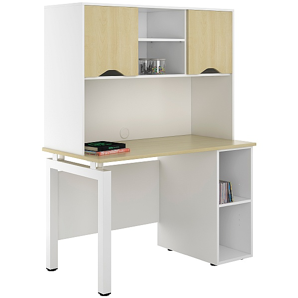 NEXT DAY Engage Sylvan Open Pedestal Desks With Closed Storage