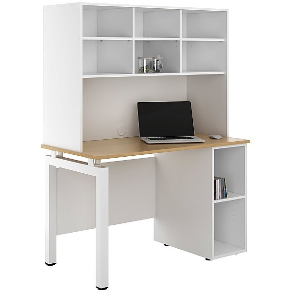 NEXT DAY Engage Sylvan Open Pedestal Desks With Open Storage