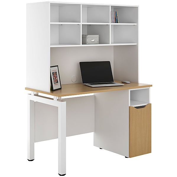 NEXT DAY Engage Sylvan Pedestal Desks With Open Storage