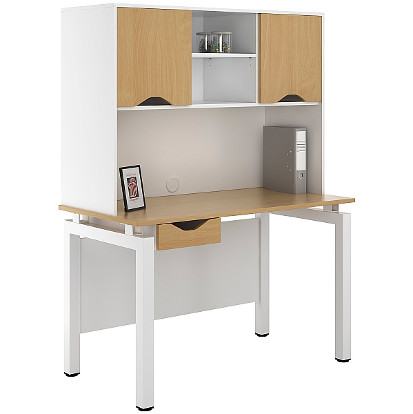 NEXT DAY Engage Sylvan Single Drawer Desks With Closed Storage