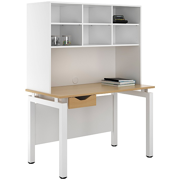 NEXT DAY Engage Sylvan Single Drawer Desks With Open Storage