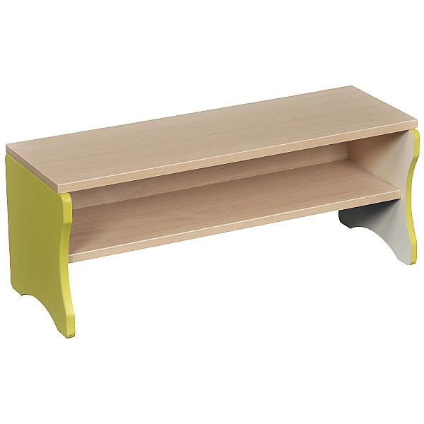 Cloakroom Bench with Green Edging