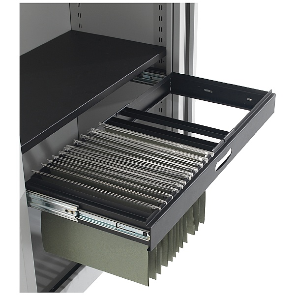 NEXT DAY Commerce II Steel Tambour Roll Out Filing Frame