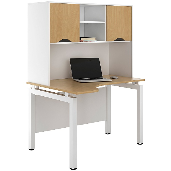 NEXT DAY Engage Sylvan Corner Desks With Closed Storage