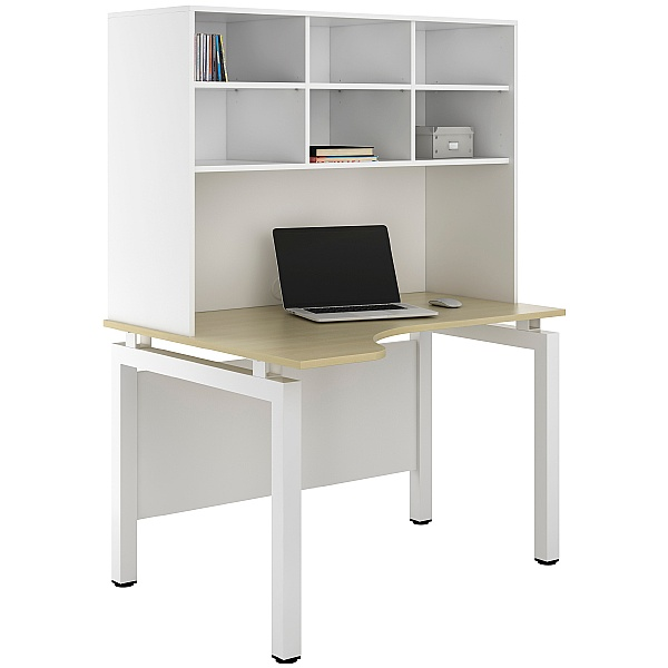 NEXT DAY Engage Sylvan Corner Desks With Open Storage