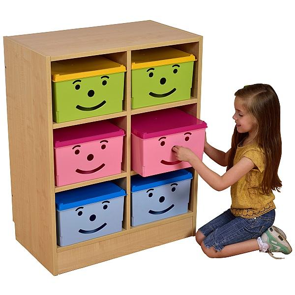 Happy Bin Storage Unit - 6 Bins
