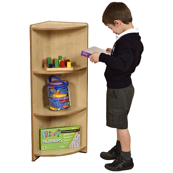 Maple Modular Book Box Corner Unit