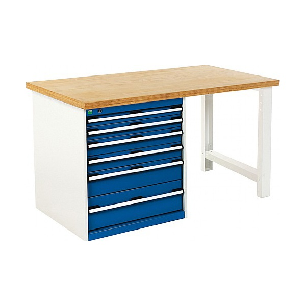 Bott Cubio Pedestal Benches - 6 Drawer 840mm High