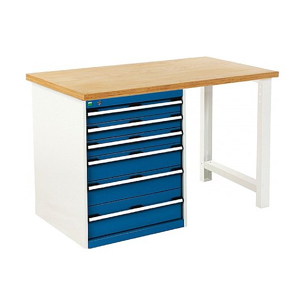 Bott Cubio Pedestal Benches - 6 Drawer 940mm High