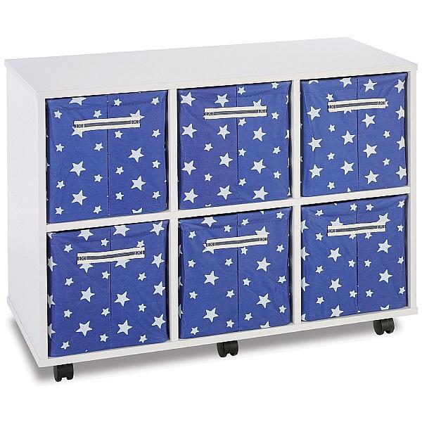 6 Jumbo Canvas Tray Storage