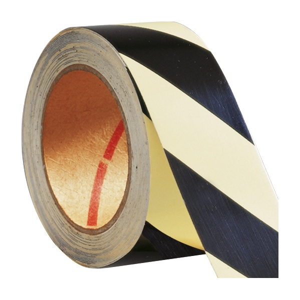 Luminous Hazard Warning Tape - Striped