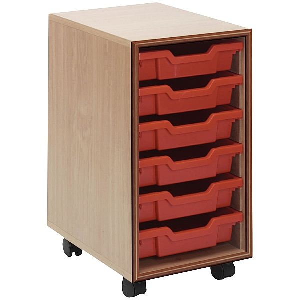 Essentials Mobile 6 Tray Storage Units