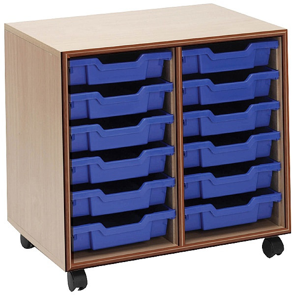 Essentials Mobile 12 Tray Storage Units