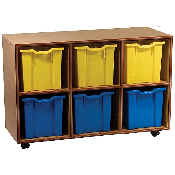 Essentials Mobile 6 Jumbo Tray Storage Units