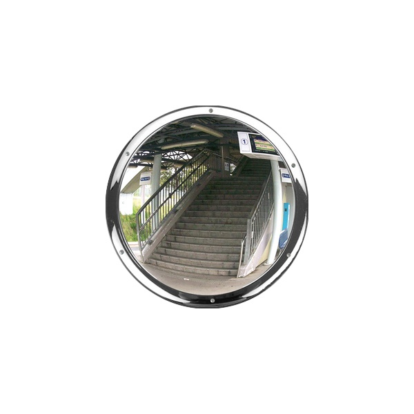 Anti-Vandal Wall Mounted Stainless Steel Convex Mirror