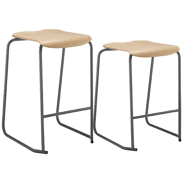 SE Ergonomic Wooden Classroom Stools