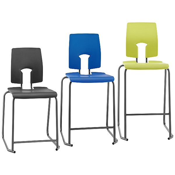SE Classic Ergonomic High Back Classroom Stool