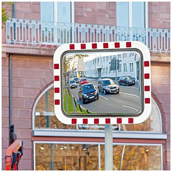 DURABEL LITE Economy Rectangular Stainless Steel Traffic Mirrors
