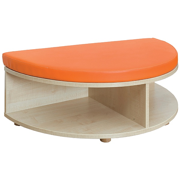 Reading Nook Rounded Edge Storage & Seat Unit
