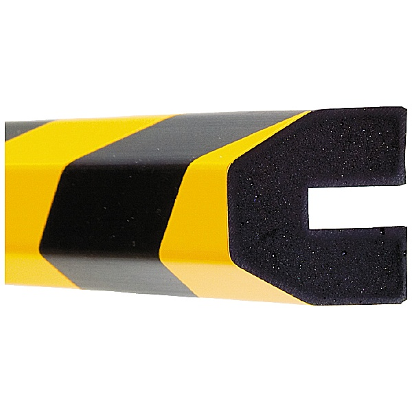 TRAFFIC-LINE Yellow/Black Profiled Impact Protection - 1 Metre