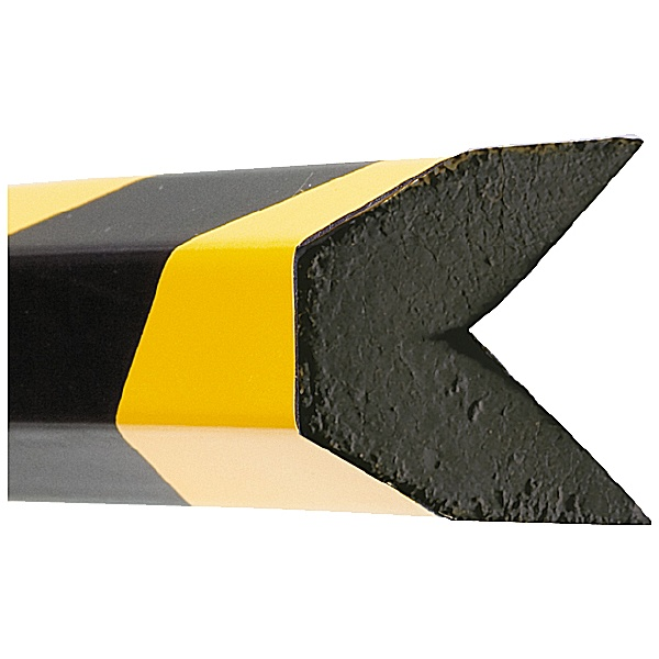 TRAFFIC-LINE Yellow/Black Adhesive Impact Protection For Edges - 1 Metre