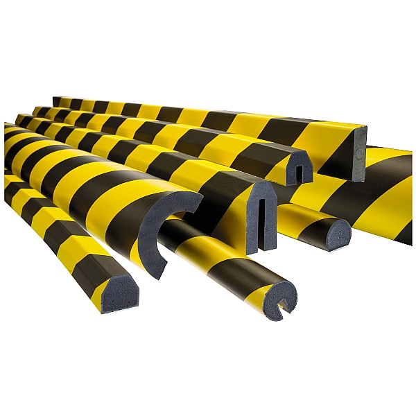 TRAFFIC-LINE Yellow/Black Adhesive Impact Protection For Edges - 5 Metres