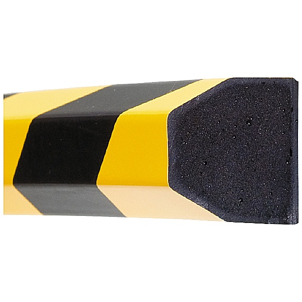 TRAFFIC-LINE Yellow/Black Adhesive Impact Protection For Surfaces - 1 Metre