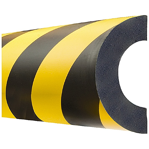 TRAFFIC-LINE Yellow/Black Adhesive Impact Protection For Pipes - 1 Metre