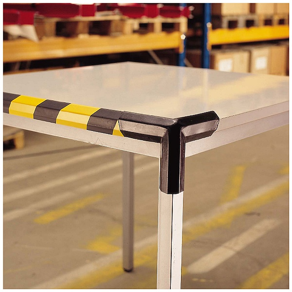 TRAFFIC-LINE Black Adhesive Impact Protection For Corners - Trapeze