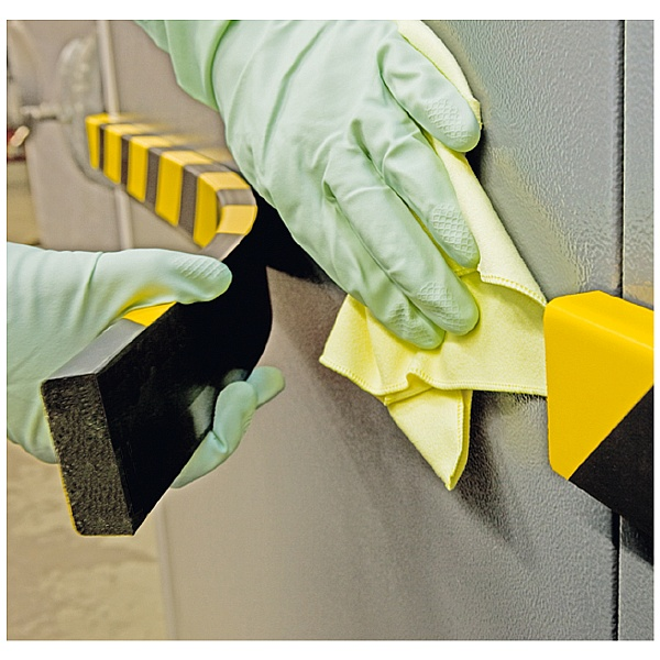 TRAFFIC-LINE Yellow/Black Magnetic Impact Protection For Surfaces