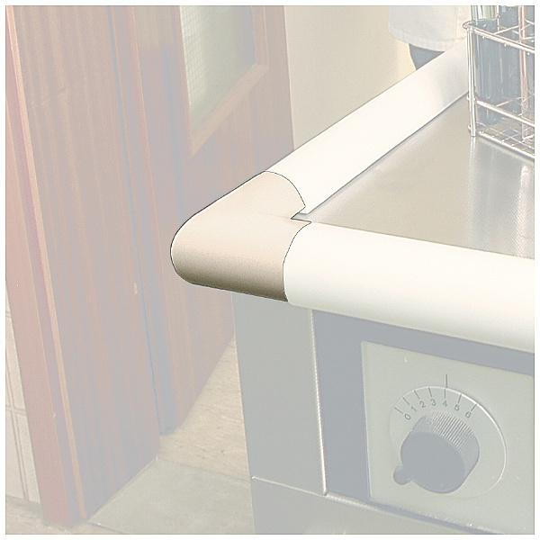 TRAFFIC-LINE White Adhesive Impact Protection For Corners